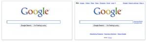 Appararition Menu Google