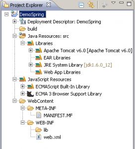 Arborescence Projet Web Eclipse