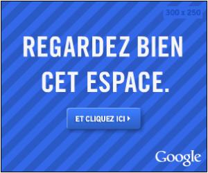 Exemple de Publicité des nouveaux formats Google